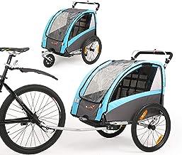 Fiximaster 2020 V2 Multifunktion 2 in 1 Fahrradanhänger/Kinderwagen 360 ° drehbar Baby Buggy Fahrradanhänger mit Lenker und Federung Blau BT504S Neu