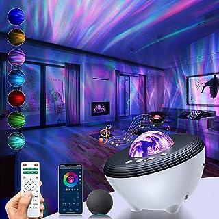 پروژکتور TRUDIN Galaxy Star Light برای اتاق خواب ، پشتیبانی از همگام سازی موسیقی بلوتوث ، انتخاب رنگ ، حالت DIY ، کار با الکسا