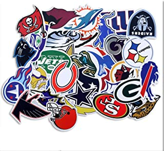 Football NFL New England Stickers,32Pcs Soccer Star Stickers,Laptop Computer Car Skateboard Motorcycle Bicycle Luggage Guitar Bike Decal Sticker.(SG-32-GL)