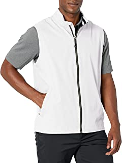 Cutter & Buck mens Drytec Water Resistant Nine Iron Full Zip Vest With Pockets