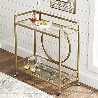 Better Homes and Gardens Nola Bar Cart, Gold Finish