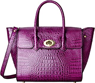 Sponsored Ad - PIFUREN Large Handbags for Women Top handle Bags Genuine Leather Crocodile Handbag