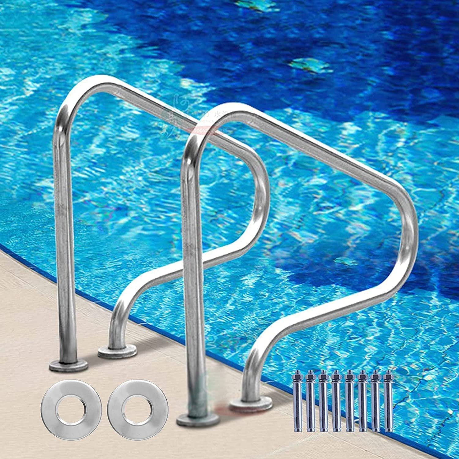 FCPLLTR Non-Slip Pool free Hand Rail Steel P 3-Bend 2021 Stainless Safety