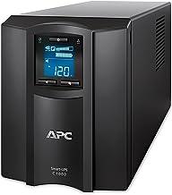 APC 1000VA Smart UPS with SmartConnect, SMC1000C Sinewave UPS Battery Backup, AVR, 120V, Line Interactive Uninterruptible Power Supply