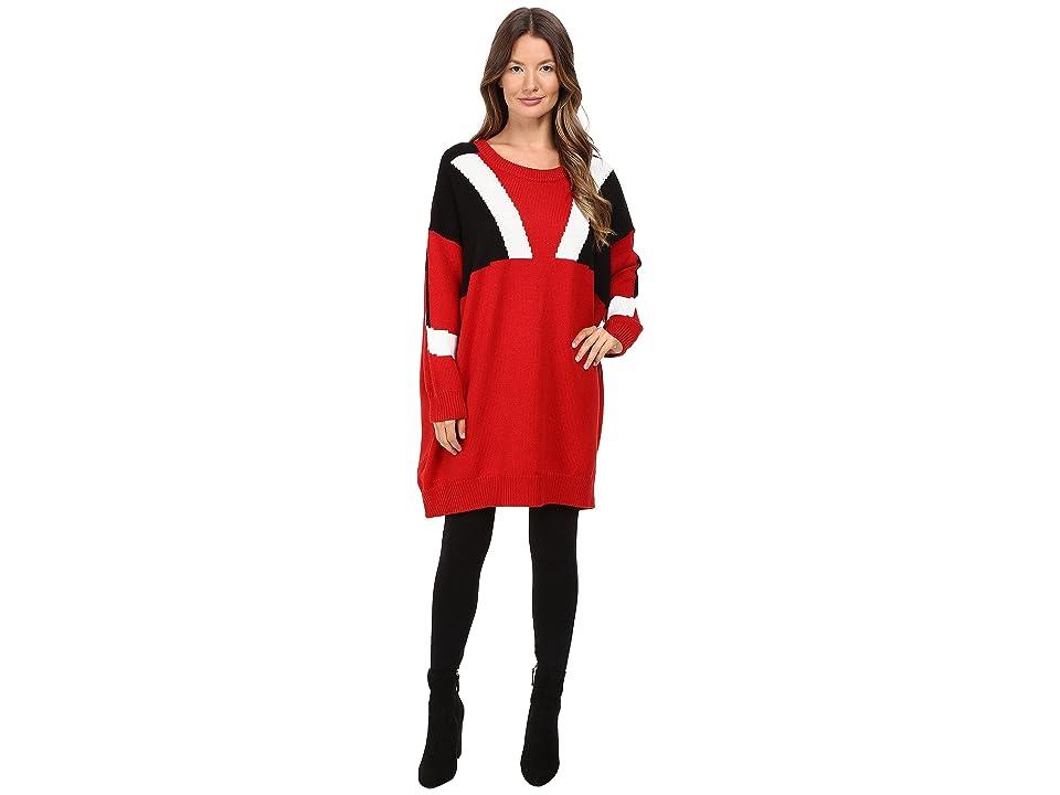 Neil Barrett Oversize Modernist Wool Sweater (Red) Women