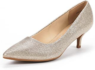 Women's Moda Low Heel D'Orsay Pointed Toe Pump Shoes