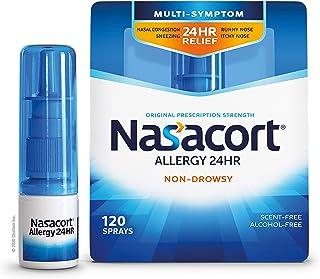 Nasacort Allergy 24HR Nasal Spray for Adults, Non-Drowsy & Alcohol-Free, 120 Sprays, 0.57 fl. oz.