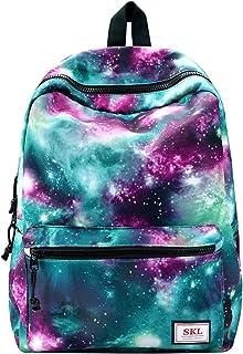 Galaxy Backpack, SKL Unisex School bag Outdoor Daypack Laptop Bag Rucksack for Middle College Teen Boys Girls Travel Hiking (Green)