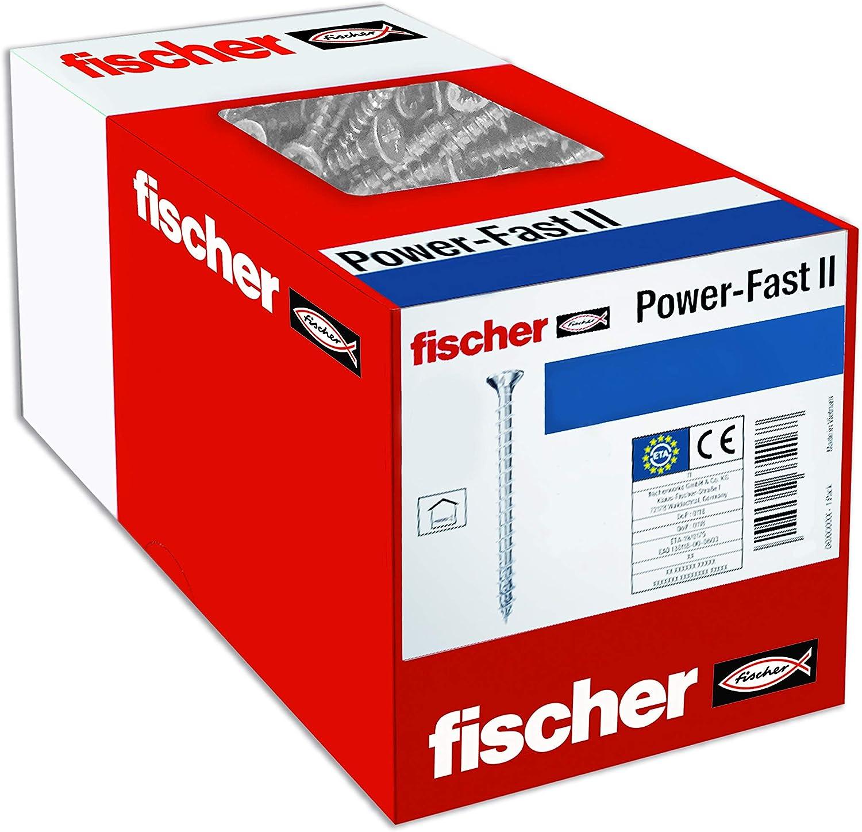 fischer 670061 Caja de Tornillos para Madera Rosca Total 3x12 cincado