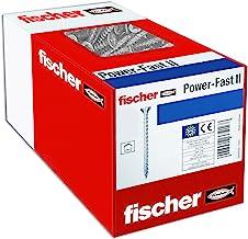 fischer 670201 caja de tornillos para madera rosca total 4x40, cincado