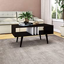 Tecnomobili Coffee Table, Tobacco/White, RIV050