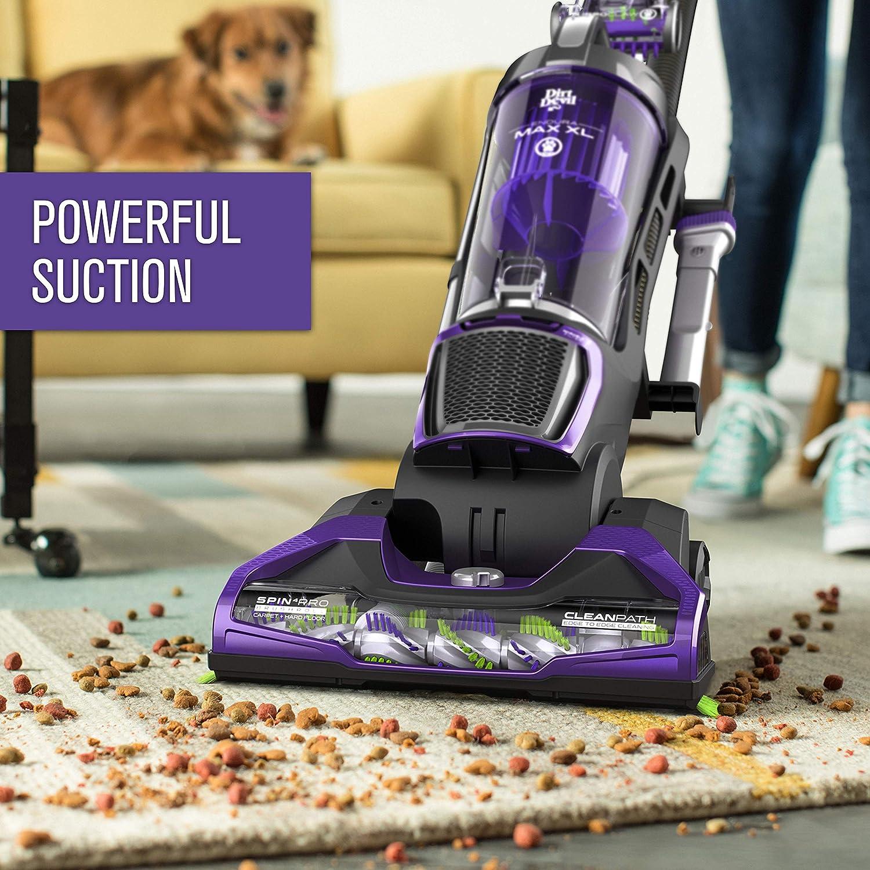 Purple Bagless Dirt Devil Endura Max XL Upright Vacuum Cleaner for Pets Lightweight UD70186