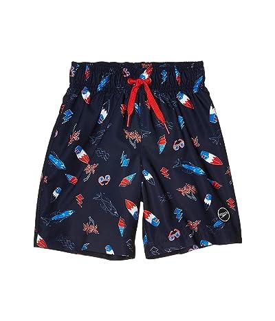 Speedo Kids Beach Time Redondo Volley Shorts (Little Kids/Big Kids) (Navy/Red/White) Boy