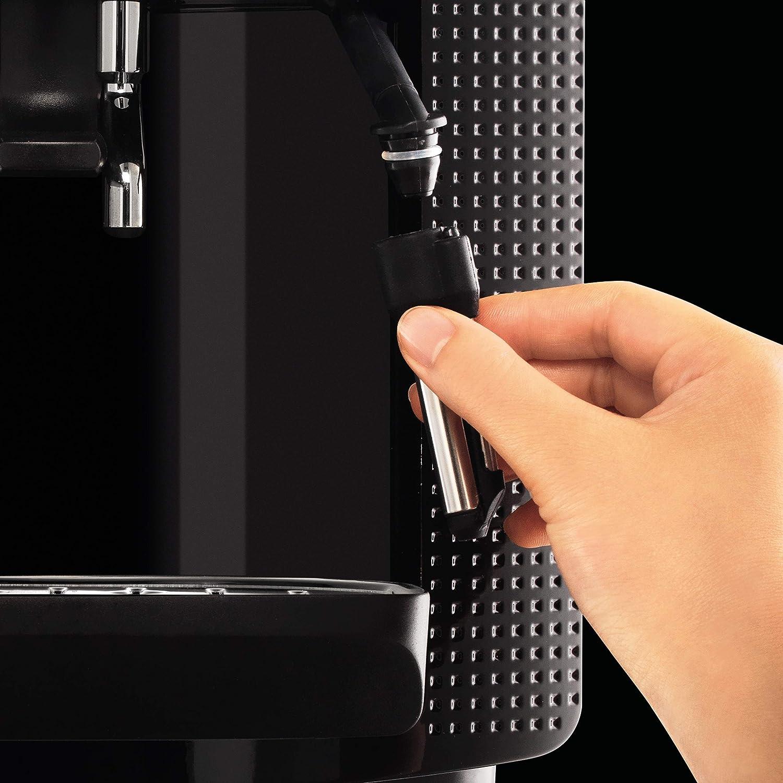 Krups Ea8108 Volautomatische Espressomachine, Automatische Reiniging, 2-Kopjesfunctie, Melkopsysteem met Cappucinoplus-Mondstuk, Zwart wit