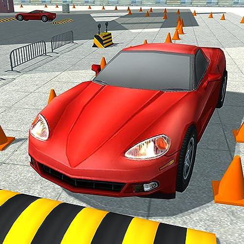 3D Auto-Parkplatz-Schule
