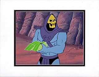 He-Man and the MOTU Skeletor Production Animation Art Cel and Drawing Filmation 3