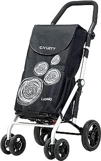 BEST 4 Wheel Grocery Shopping Cart folding Trolley CARLETT #LETT440