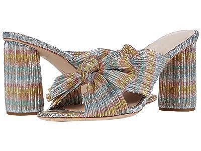 Loeffler Randall Penny Pleated Knot Mule (Pastel Candy Stripe) Women