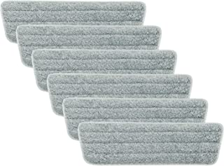 Eyliden 6 Pack Mop Pads Wet Dry Microfiber Mop Cleaning Pad Mop Refills Replacement Heads for Most Spray Mops and Reveal Mops