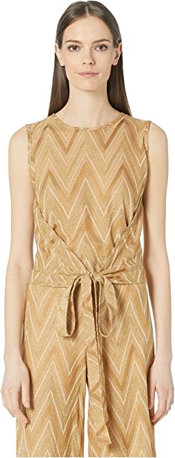 Tone On Tone Chevron Sleeveless Top