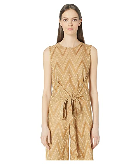 M Missoni Tone On Tone Chevron Sleeveless Top