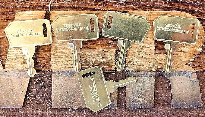 Solarhome 4PCS 14644 M516 Ignition Starter Keys for Terex Generation 7 Dumptruck ADT