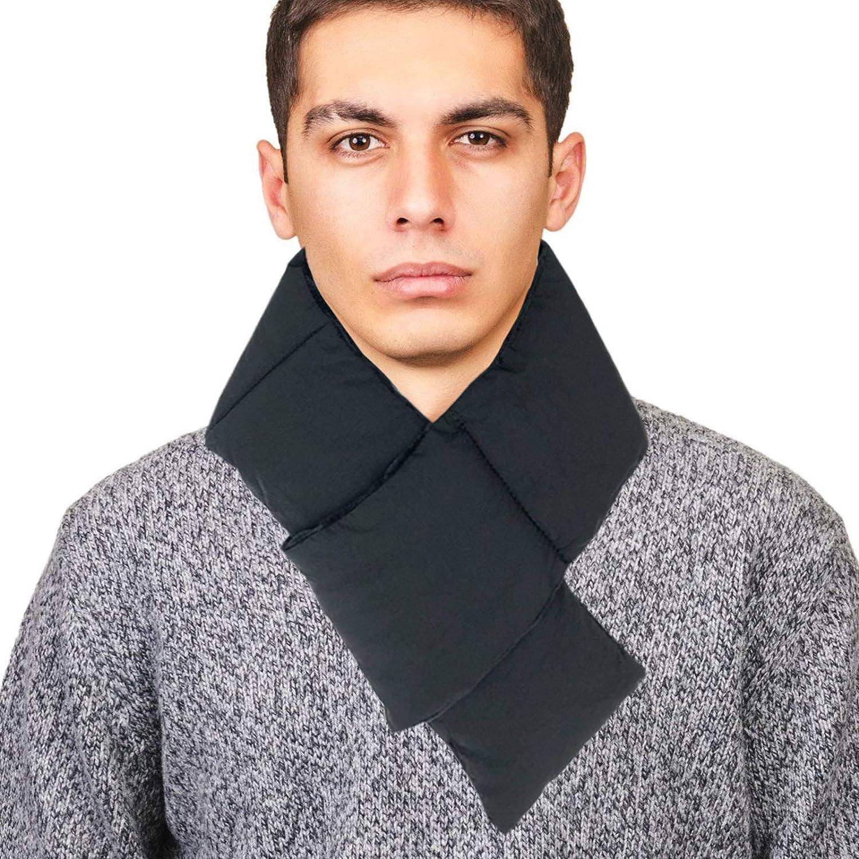 Lightweight Padded Loophole Neck Wrap Short Scarf for Men Women Teens in Winter