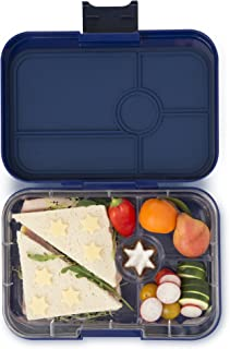 Yumbox Tapas Larger Size (Portofino Blue Explore Tray) Leakproof Bento lunch box for Adults, Teens & Pre-teens