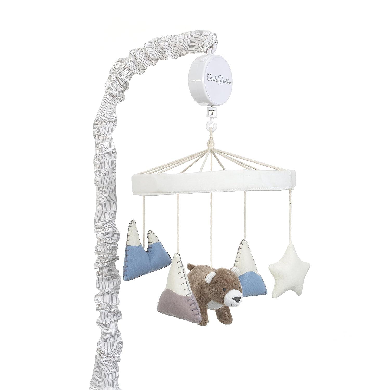 Dwell Studio Bear Hugs unisex Nursery Crib wholesale Musical Blue Wh Mobile Gray