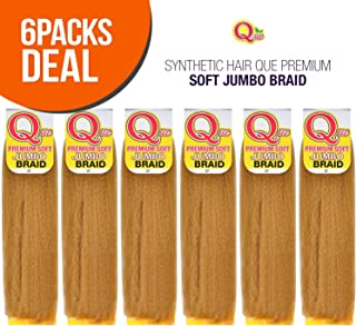 MULTI PACK DEALS! Milky Way Synthetic Hair Que Premium Soft Jumbo Braid (6-PACK, P27/613)