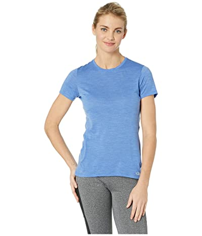 Icebreaker Amplify Merino Short Sleeve Low Crewe (Cove Heather) Women