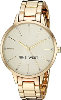 Nine West Women's Quartz Metal and Alloy Dress Watch, Color:Gold-Toned (Model: NW/2098CHGB)