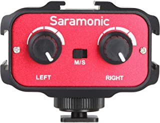 Saramonic SR-AX100 Universal Dual Channels Microphone Amplifier Audio Mixer Adapter Interview 3.5mm Jack & Cold Shoe Mount...