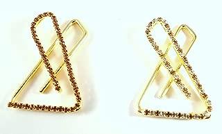Sarvam Decorative Golden Saree Pins Hijab Pin Brooch Safety Pins Set of 2
