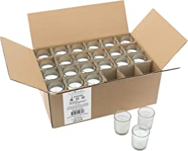 Stonebriar SB-SP-3210A 15 Hour Long Burning Unscented Wax Filled Votive Holders, 48 Pack, White