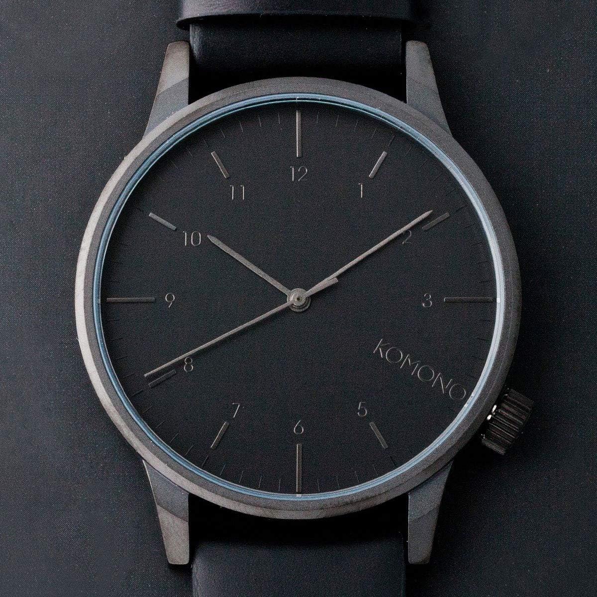 正規代理店 [KOMONO] コモノ 時計 腕時計 メンズ ユニセックス WINSTON REGAL ウィンストン リーガル KOM-W2264 オール ブラック