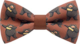Wild Animal bow ties unisex pets pre-tied shape in different patterns, by Bow Tie House
