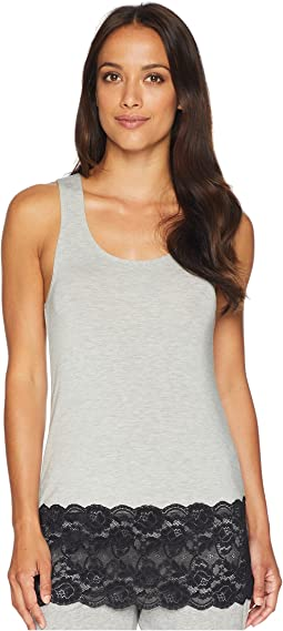 Jessica Modal Tank Top with Galloon Lace Hem