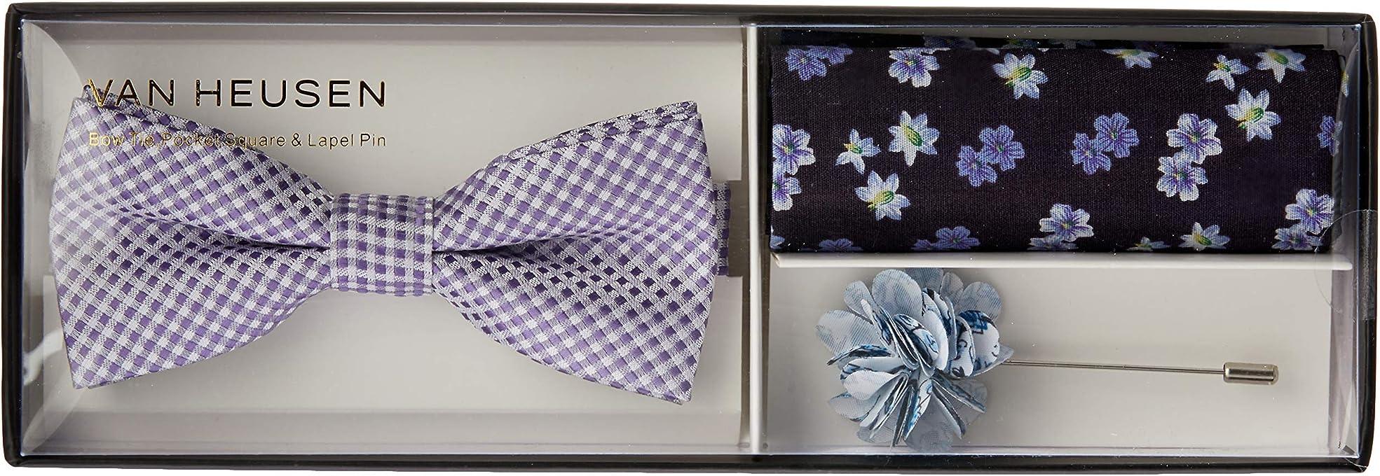 Van Heusen Men's Bow Tie Accessories Gift Pack, Purple, One Size