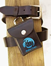 Metallic Blue Kaiba Corp. Yu-Gi-Oh real Leather Deck Box with Belt loop/Clip for belt like the anime, Lots of Sizes, anti theft / theft proof clip, Seto Kaiba, Blue Eyes White Dragon, 海馬かいばコーポレイション
