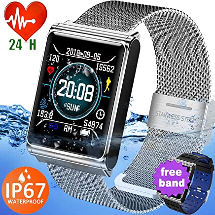 Smart Watch Fitness Tracker for Men Women Kids Outdoor IP67 Waterproof Activity Health Tracker with Heart