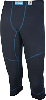 98% Merino Wool Men's Sport 3/4 Leggings Machine Washable Made in Norway