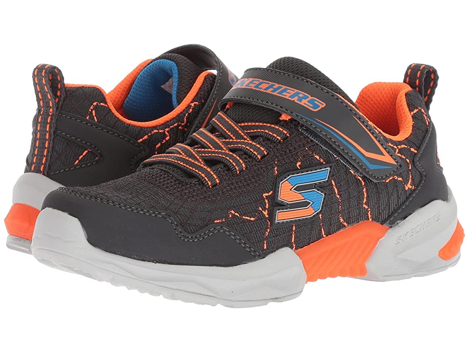 SKECHERS KIDS Techtronix 97841L (Little Kid/Big Kid) (Charcoal/Orange) Boy