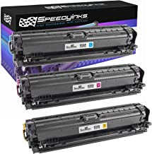 Speedy Inks - 3PK Remanufactured Replacement for HP 650A CE271A, CE273A, CE272A Color Toner Set: 1ea CMY for use in HP Color Laserjet Enterprise CP5525 CP5525n CP5525dn CP5525xh M750n M750dn M750xh