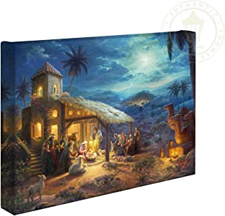 Thomas Kinkade Studios The Nativity 10 x 14 Gallery Wrapped Canvas