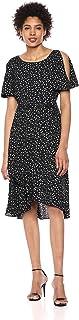 Anne Klein womens Flutter Sleeve SASH DRESS Dress
