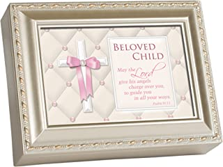 Cottage Garden Beloved Child Religious Silver Music Musical Jewelry Box Plays Jesus Loves Me