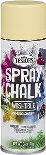 Testors 307591 Spray Chalk, 6 Oz, Yellow