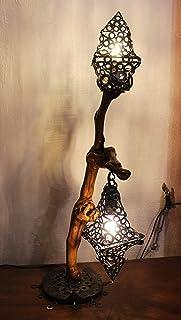 Illuminazione ambientale : Lampada in legno di vite.