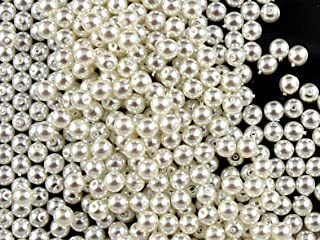 100pcs Czech Glass Beads with a Pearl Coating Estrela Round 4mm White Pearl